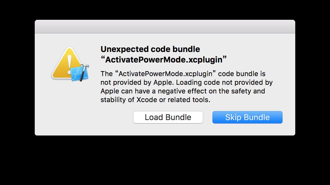 Xcode检测到插件