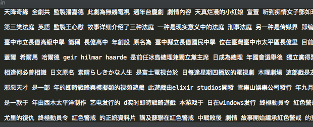 直接导出的维基百科中文文档