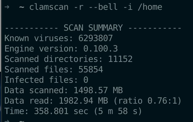 Use CalmAV scan / home